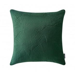 Zelená zamatová prešívana obliečka na vankúš