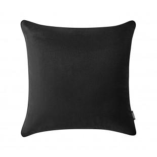 Tmavosivá jednofarebná obliečka na vankúš s tmavším lemom