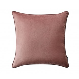 Tmavoružová jednofarebná obliečka na vankúš s tmavším lemom