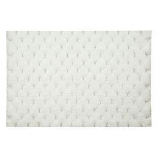 Biely mäkučký jednofarebný kúpeľňový koberček