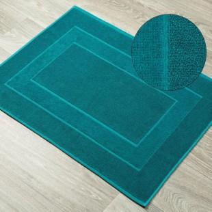 Tyrkysový bavlnený kúpeľňový koberček