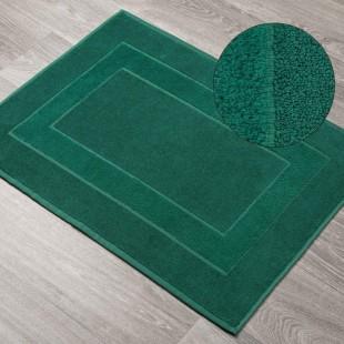 Zelený bavlnený kúpeľňový koberček