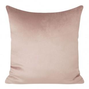 Ružová zamatová dekoračná obliečka na vankúš