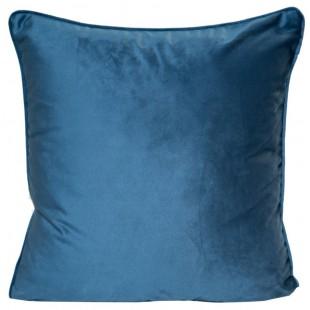 Obliečka na vankúš zo zamatu v modrej farbe