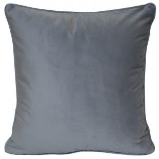 Obliečka na vankúš zo zamatu v sivej farbe