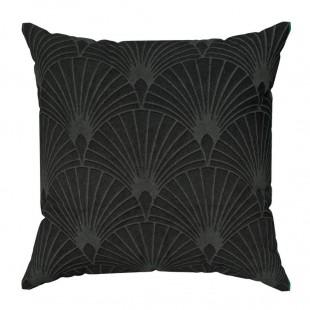 Obliečka na vankúš s geometrickým vzorom v čiernej farbe