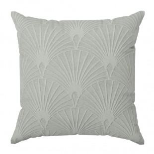 Obliečka na vankúš s geometrickým vzorom v sivej farbe