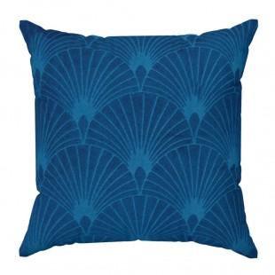Obliečka na vankúš s geometrickým vzorom v modrej farbe