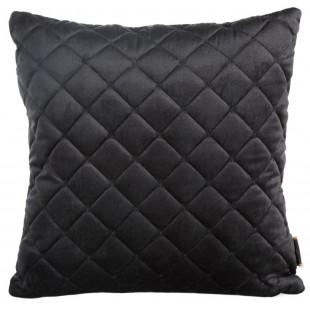Obliečka na vankúš čierna zo zamatu s prešívaním