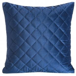 Obliečka na vankúš modrá zo zamatu s prešívaním