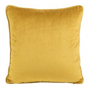 Obliečka na vankúš žltá s jemným vzorom