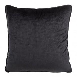 Obliečka na vankúš čierna s jemným vzorom