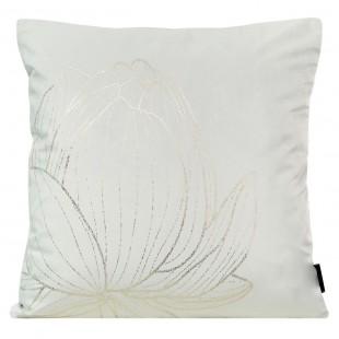 Obliečka na vankúš biela so zlatým kvetom