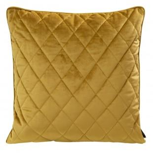 Obliečka na vankúš medová s kosoštvorcovým prešívaním