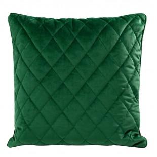 Obliečka na vankúš zelená s kosoštvorcovým prešívaním