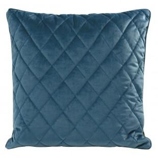 Obliečka na vankúš modrá s kosoštvorcovým prešívaním