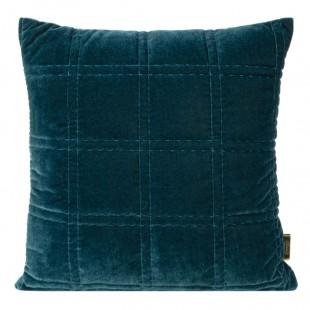 Obliečka na vankúš modrá so štvorčekovým prešívaním