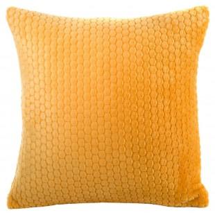 Obliečka na vankúš plyšová v žltej farbe