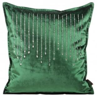 Obliečka na vankúš zelená jednofarebná s kubickým zirkónom