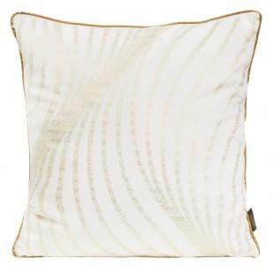 Obliečka na vankúš biela so zlatou aplikáciou