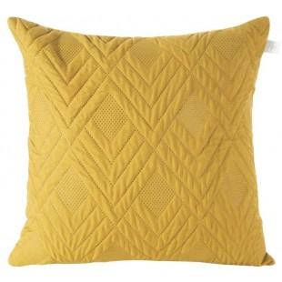 Obliečka na vankúš žltá s cik-cak vzorom
