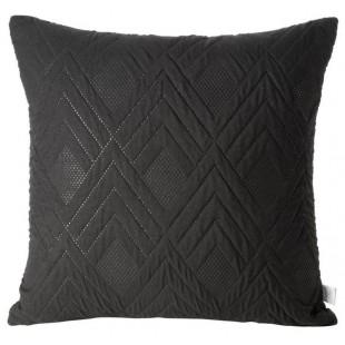 Obliečka na vankúš čierna s cik-cak vzorom