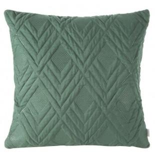 Obliečka na vankúš zelená s cik-cak vzorom