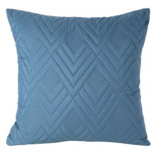 Obliečka na vankúš modrá s cik-cak vzorom