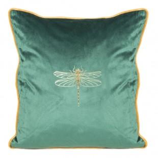 Obliečka na vankúš zelená so zlatým zvieracím motívom