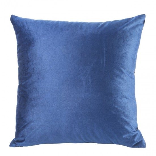 Obliečka na vankúš jednofarebná modrá zo zamatu