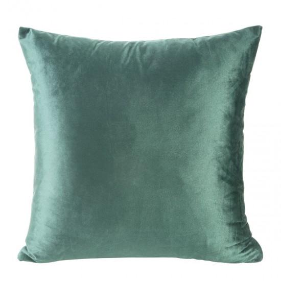 Obliečka na vankúš jednofarebná zelená zo zamatu