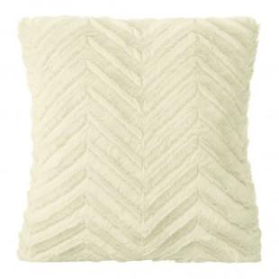 Obliečka na vankúš mäkká krémová s geometrickým vzorom