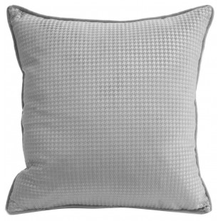Obliečka na vankúš sivá s drobným geometrickým vzorom