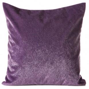 Obliečka na vankúš fialová s krátkym vlasom a jemným leskom