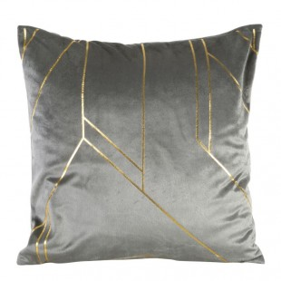Obliečka na vankúš sivá so zlatými čiarami