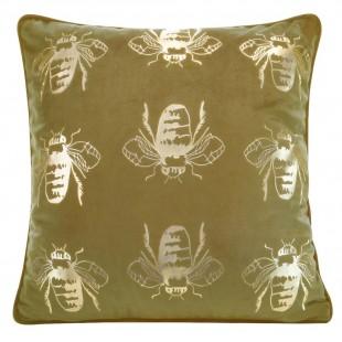 Obliečka na vankúš žltá so zlatými včielkami