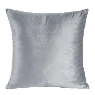 Obliečka na vankúš jednofarebná sivá zo zamatu