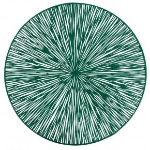 Prestieranie na stôl v zelenej farbe