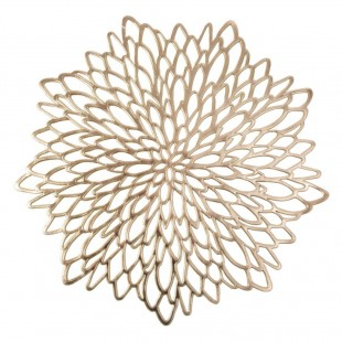 Prestieranie na stôl zlaté v tvare kvetu