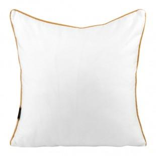 Obliečka na vankúš biela so zlatým lemom
