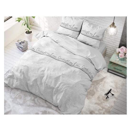 Biele posteľné obliečky MY LOVE WHITE