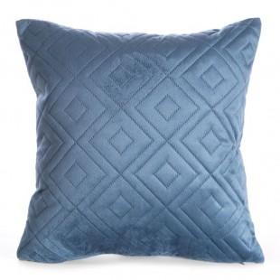Obliečka na vankúš modrá s kosoštvorcami