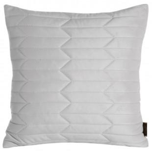 Obliečka na vankúš prešívaná zamatová v bielej farbe