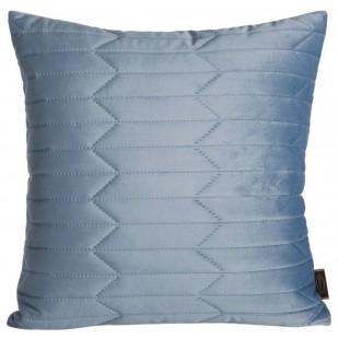 Obliečka na vankúš prešívaná zamatová v modrej farbe