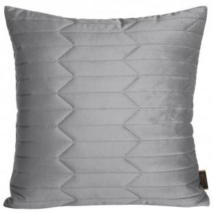 Obliečka na vankúš prešívaná zamatová v sivej farbe