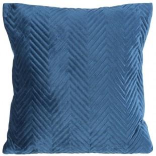 Obliečka na vankúš modrá s cik-cak prešívaním