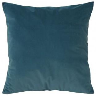 Obliečka na vankúš zamatová v modrej farbe