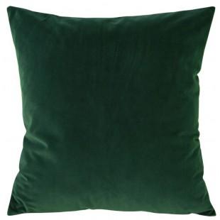 Obliečka na vankúš zamatová v zelenej farbe