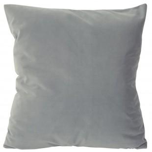 Obliečka na vankúš zamatová v sivej farbe