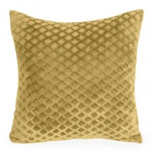 Obliečka na vankúš žltá s geometrickým vzorom